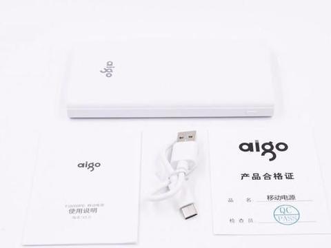 拆解报告:aigo 10000mAh 18W PD双向快充移动电源