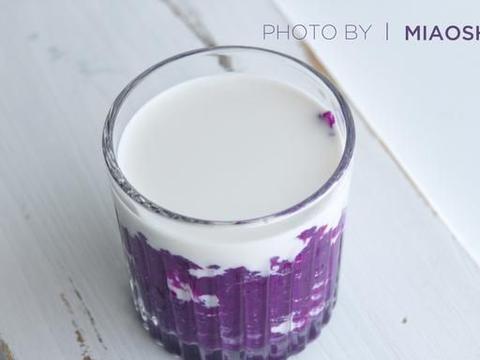 纯牛奶别单独喝了,加入紫薯后,口感香滑又营养
