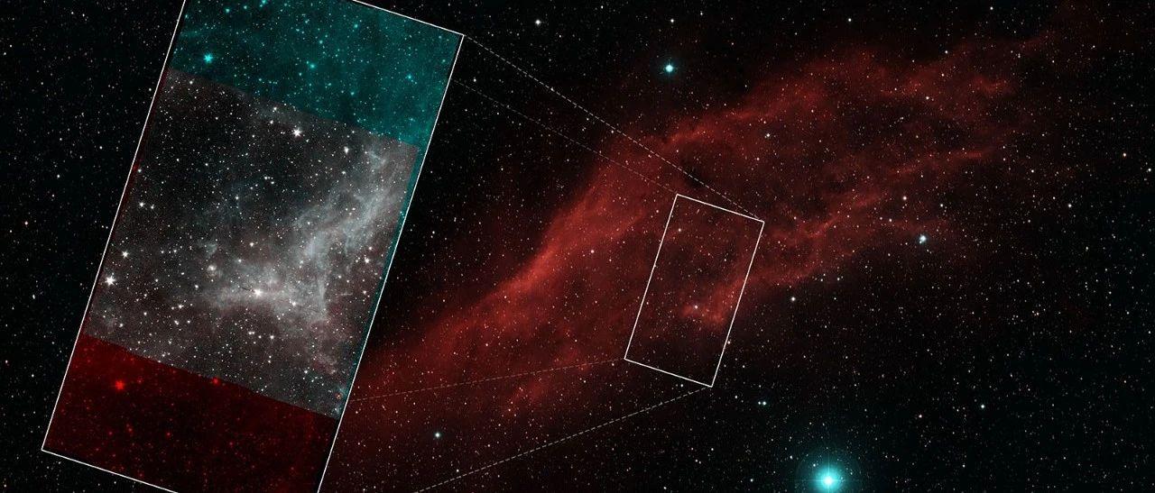 斯皮策最后的镶嵌图:加利福利亚星云