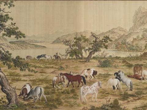 中国传世十大名画之四《百骏图》