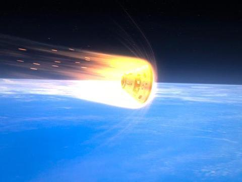 飞船同样穿过大气层,为什么返回时会有高温,升空时却没有?