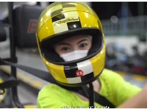 母亲节张柏芝陪儿子开赛车,并深情表白,网友:生活就是不一样!