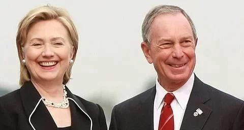 布隆伯格考虑找希拉里当副总统人选,或将打败特朗普入主白宫