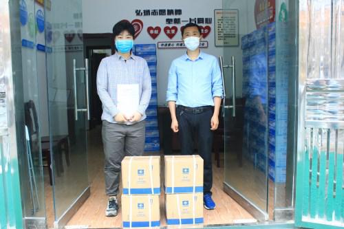 开学季 暖人心——爱心人士为郭家坝镇初级中学捐赠防疫物资