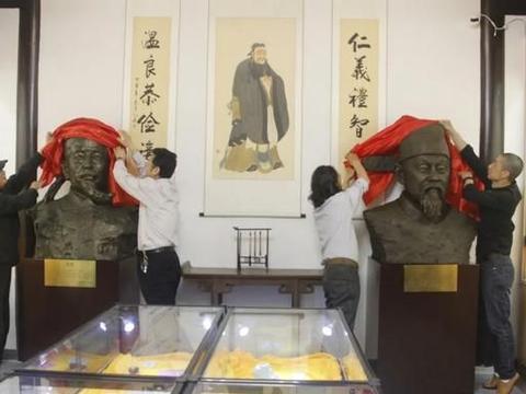古崇正书院耿定向和焦竑雕塑正式落成暨书院文化藏品馆、中国非