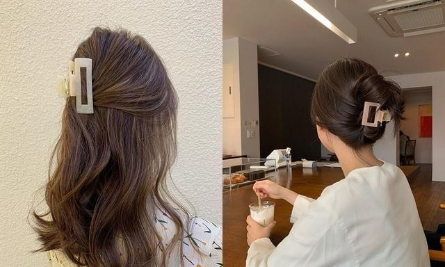 4种清爽好整理的「鲨鱼夹盘发」,1分钟复制韩妞美美的夏日发型
