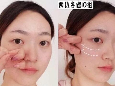 面颊松弛让法令纹变深,3招按摩法,淡化法令纹、大咬肌变小V脸