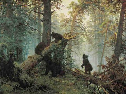 俄罗斯风景画大师希施金油画作品欣赏