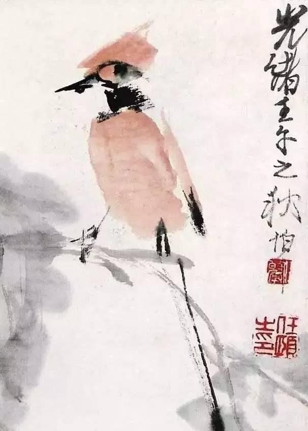 他的花鸟画师法陈淳、徐渭、石涛、恽寿平、华喦及北宋诸家