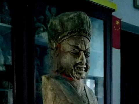 清早期马王爷木雕残像