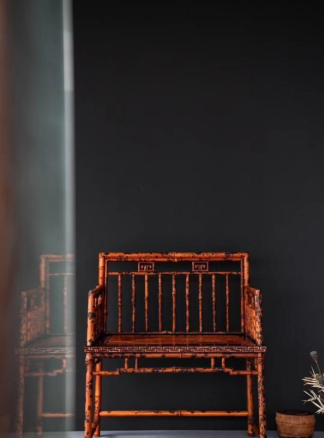 湘妃竹制器回纹禅椅中式古典家具