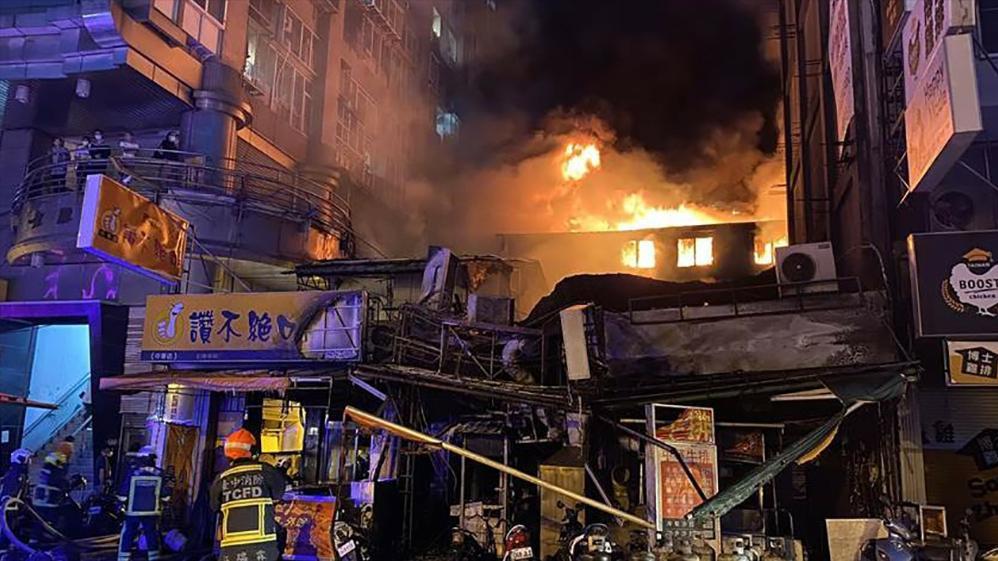 蔡英文就职演讲没一天,台中市就发生纵火案,10多户商家陷入火海