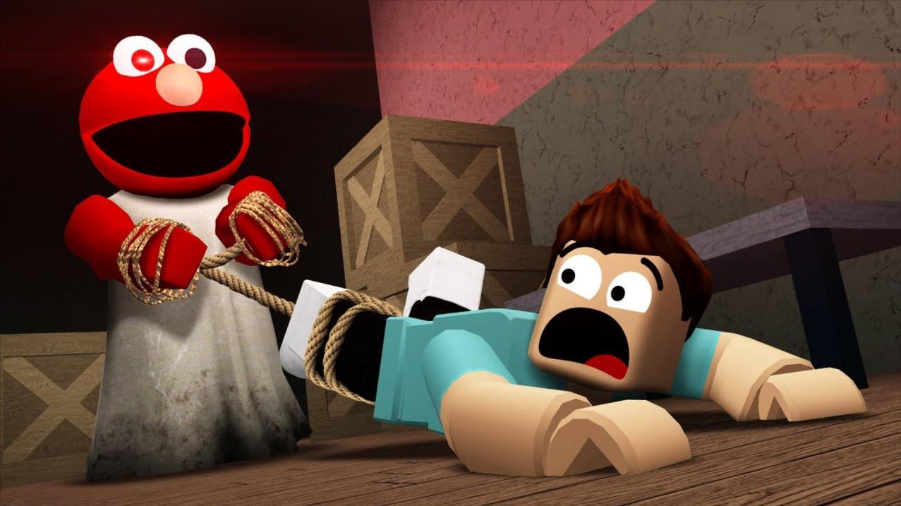 Roblox逃离木偶怪物:芝麻街艾摩来袭!惊险踩夹子逃生?小格解说