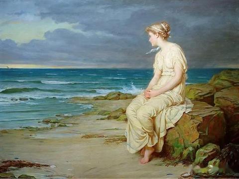 唯美主义大师沃特豪斯作品,油画中模特美若天仙