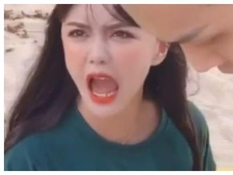 """韩安冉去三亚再次""""变形"""",朝镜头怒吼大发脾气,没有丝毫改变!"""