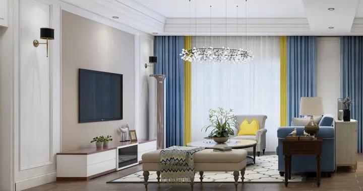 惊艳美式风,宅家也自在,280平米的三居室让人每天都元气满满-尚观嘉园装修
