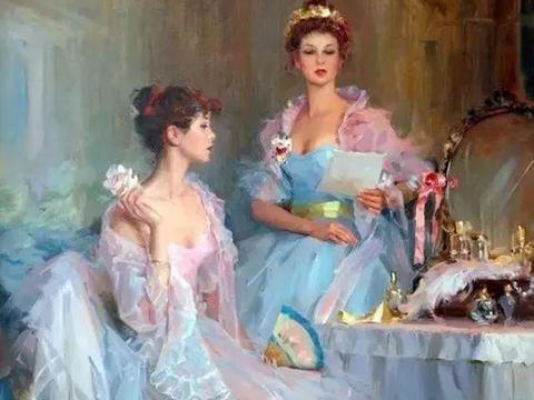一组性感绝伦的美女人体油画