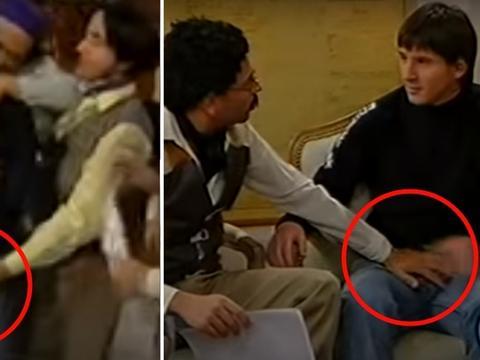 """梅西也曾遭""""咸猪手""""!18岁参加节目视频曝光,画面有些辣眼睛!"""