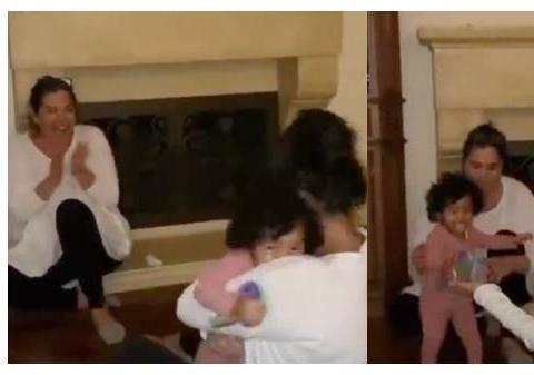 瓦妮莎女儿迈出人生第一步,科比无缘见证,父亲的遗憾!太伤感
