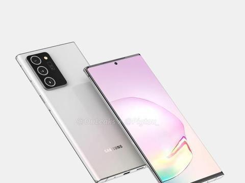 三星 Galaxy Note 20 Plus 渲染图出炉,屏幕更大,相机模组更大