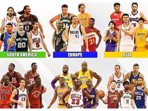 美媒评NBA在各大洲最佳阵容!中国球员两人入选,北美洲阵容豪华