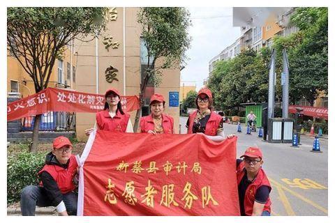 """新蔡县审计局开展""""党员进社区""""防溺水宣传活动"""