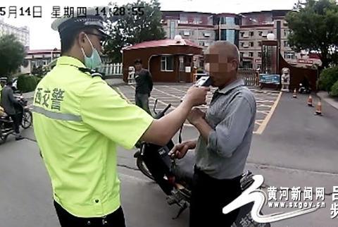 汾阳交警一天内查处3起摩托车酒驾其中无证酒驾两起