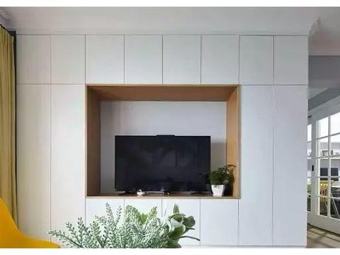 135平新房装修花15万,主卧弧形落地窗太美,电视墙更个性