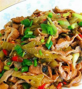 美食精选:花样香菇青菜,韩式辣酱鸡爪,酸菜爆大肠,香酥刀鱼