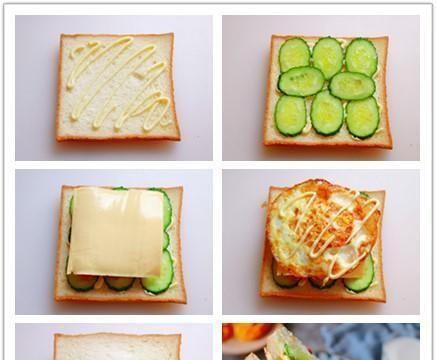4种三明治的做法,大人孩子都爱吃,健康美味,学会早餐不用愁
