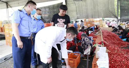 淄博沂源:维护市场交易秩序 广迎八方樱桃客商