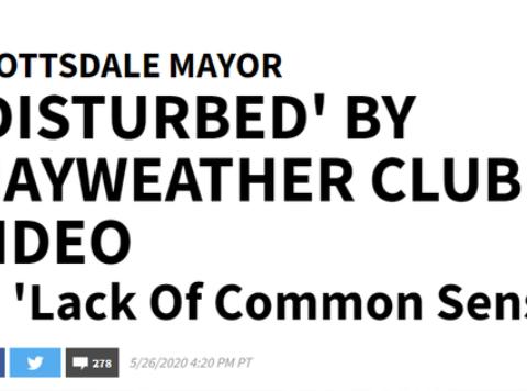 美国破170万!梅威瑟却在夜店狂欢,还不戴口罩,遭当地市长怒斥