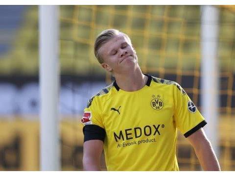 哈兰德陷入得分荒!近7场只进2球效率下降7倍 对德甲前5一球未进