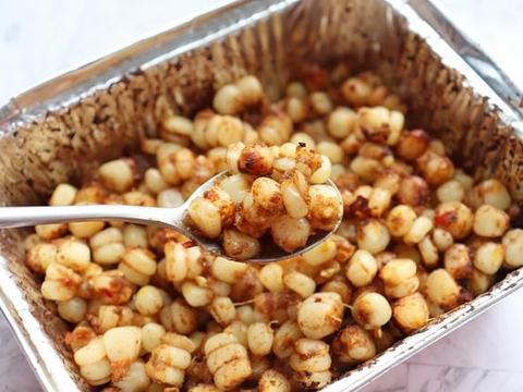 教你一款追剧小零食,香辣孜然烤玉米粒,做法简单,味道超赞