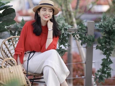 夏季红色衬衫怎么搭好看?三木时尚博主来做示范,好看又时髦