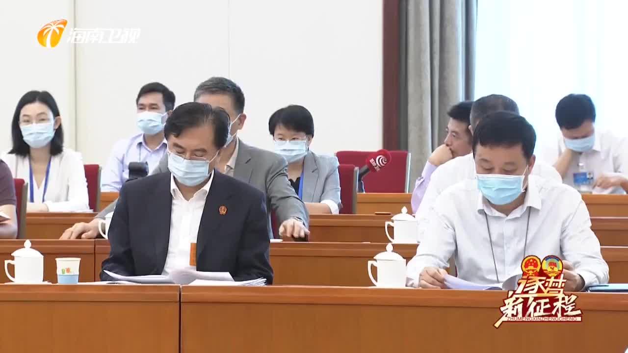 海南代表团审议各项决议草案 建议表决稿和决定 刘赐贵 沈晓明出席