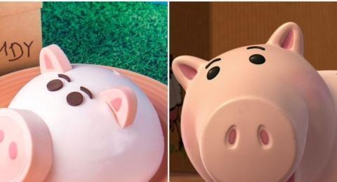 内层是草莓慕斯~玩具总动员4火腿猪蛋糕太可爱