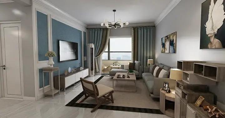 90后小夫妻花76000万元装修的现代风格,106平米二居室太赞了!-奥林匹克花园装修