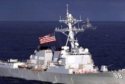 美舰刚闯入禁区,身后就传来剧烈爆炸声,军方警告:再不走就开火