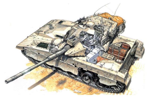 """以色列梅卡瓦主战坦克是世界上最""""安全""""的坦克?其实没那么邪乎"""