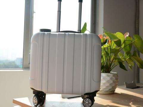 """拉着行李箱下雨,拿伞不方便?奇思妙想学生发明""""方便行李箱"""""""
