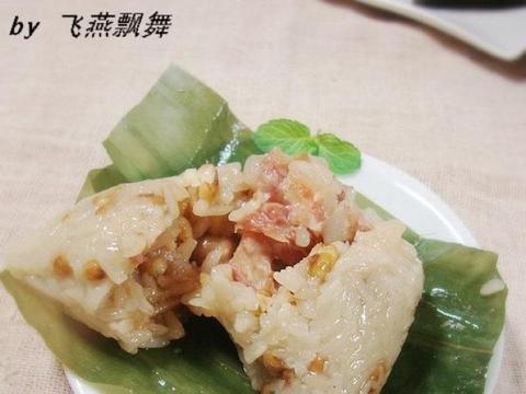 花生绿豆排骨粽子