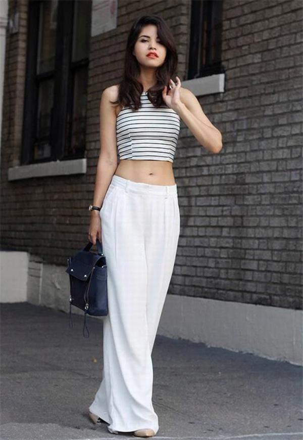 穿白裤子显胖?那是你不会穿!选对裤型,时尚清凉又显瘦