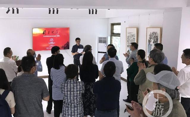 """""""携手共进""""民革中央画院抗疫书画作品展在渝开展"""