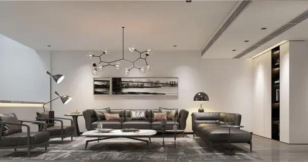 470平米六居室设计说明,75万元装修的现代风格有什么效果?-万科大家装修