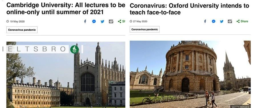 正面battle?剑桥宣布新学年所有lectures转为线上,牛津却打算面授...
