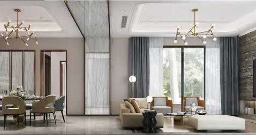 446平米的房子怎么装修合适,朋友半包花了68万,大家都惊呆了!-万科大家装修