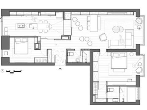 极简风格装修,这样的房屋即使住再久也不会腻,将来也是很难过时