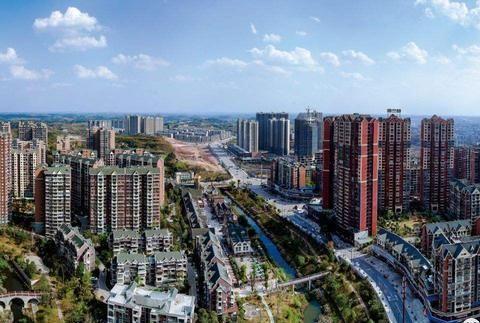 内江实力最强的县城:总人口74万,如今已经修好了二环路