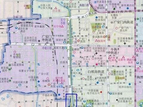 北京行政区划非常特殊的一个地方:位于护城河和西二环路之间